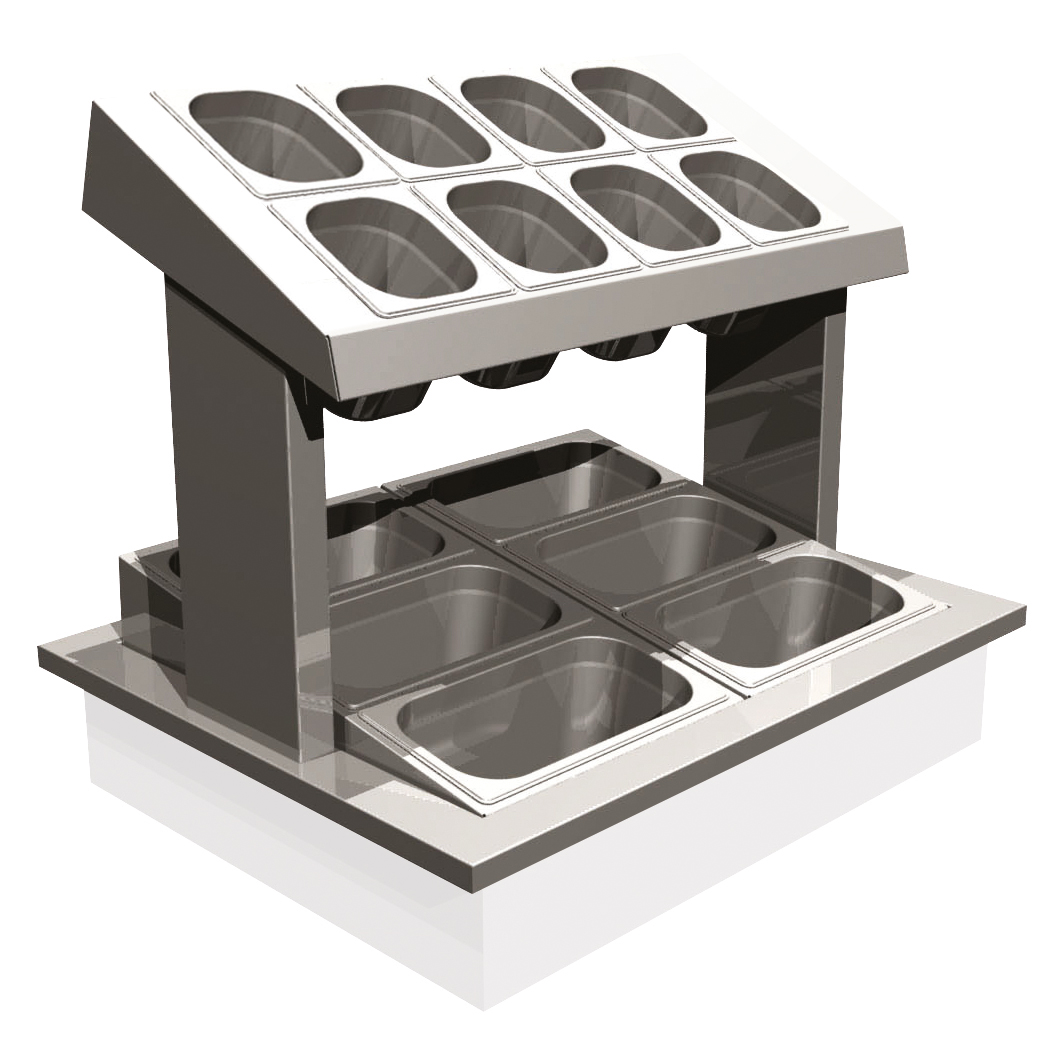 manhattan - MCCU2-GO - Cutlery Condiment Unit